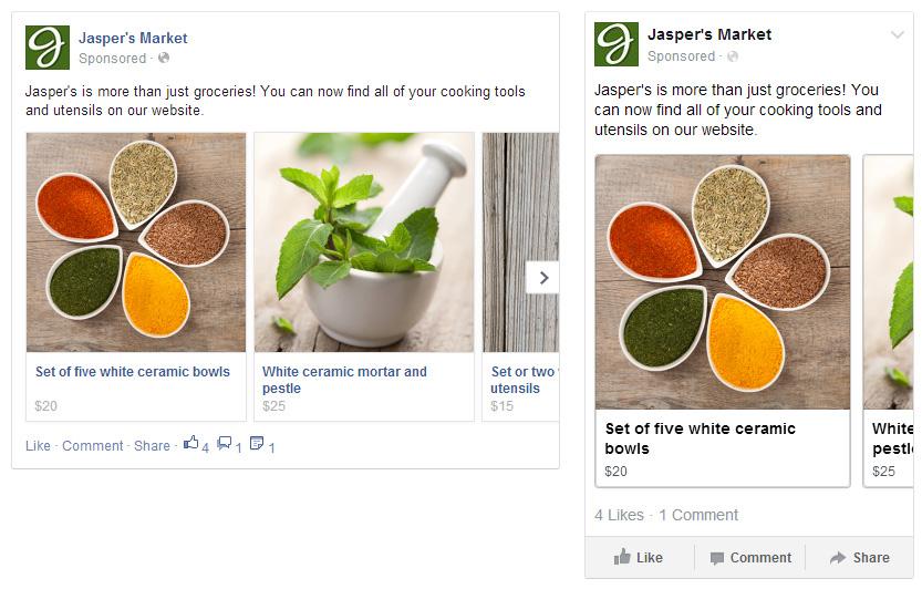 Facebook Multi-Product Ad