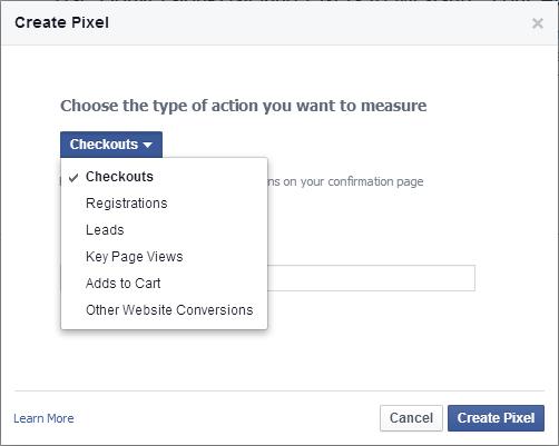 Facebook Conversion Pixel