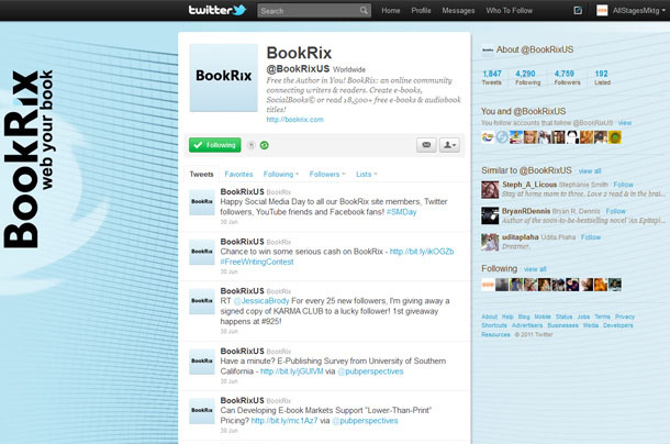 BookRix Twitter Account