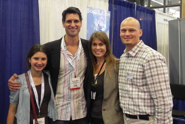 Douglas Carlton Abrams with Daughter, Amber and Andy at BEA 2011
