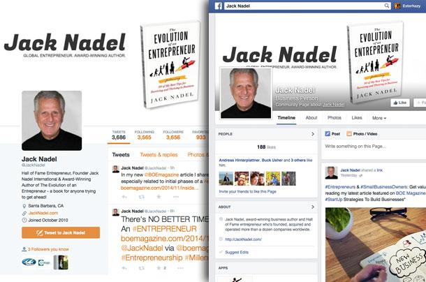 Jack Nadel Social Media Accounts