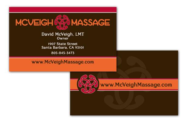 McVeigh Massage Business Card Design