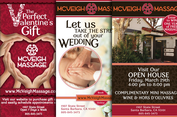 McVeigh Massage Print Ad Design