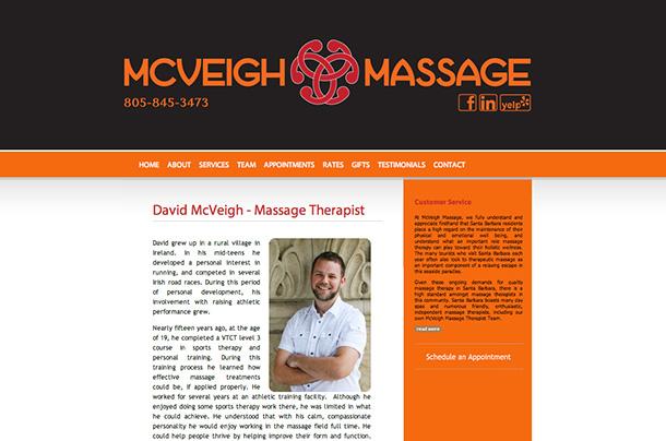 McVeigh Massage Website