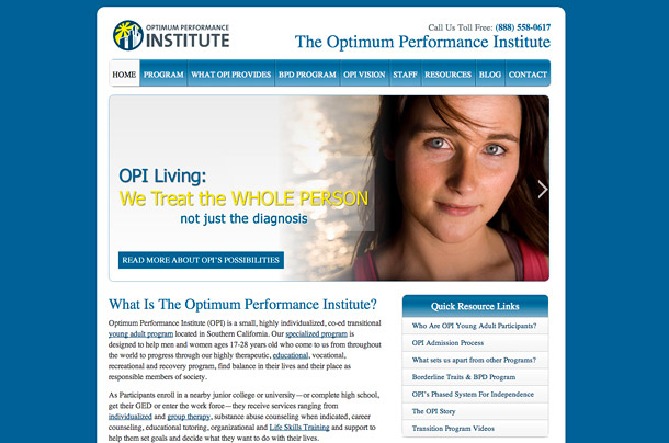 OPI Living Website