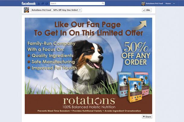 Rotations Pet Food Facebook Promo