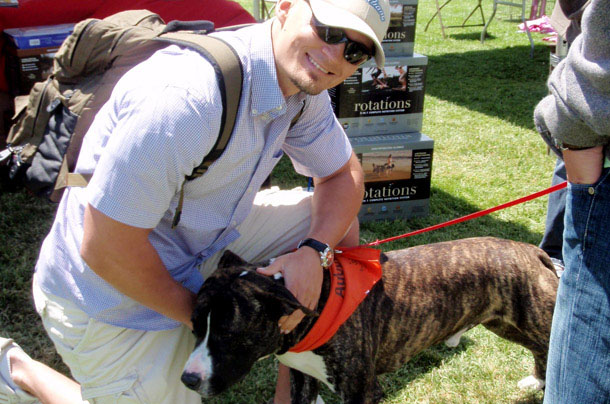 Pet Adoption Day Los Angeles Andy with Kaiser Franz Josef