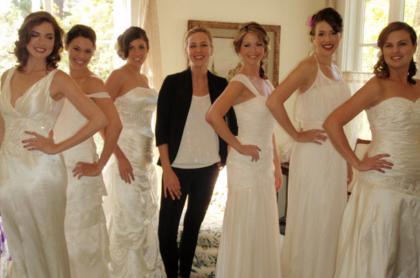 Santa Barabara Wedding Couture Jessica Iverson with Models