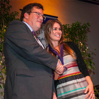 Amber Sims Hinterplatter receives CLU SOM Award